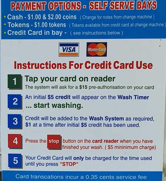 Car Wash Hervey Bay Credit Cards
